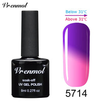 1pcs Temperature Color Changing Soak Off UV Gel Colors Verniz Lacquer Thermal Mood Changing Gel Nail Polish - On Trends Avenue