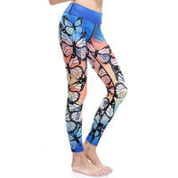 3D print butterfly parrot dragonfly bird Harajuku adventure time workout push up spandex plus size fitness leggings women pants - On Trends Avenue