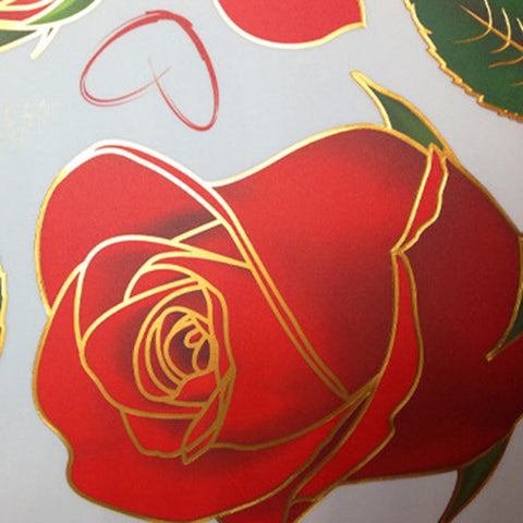 "Removable Red Rose ""Life Is The Flower for which love is the Honey"" Quote Wall Sticker - On Trends Avenue"