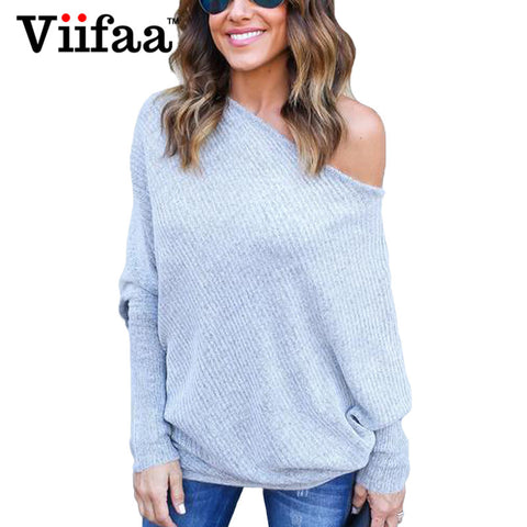 Oversized Batwing SleeveLong Sleeve Sweater - On Trends Avenue