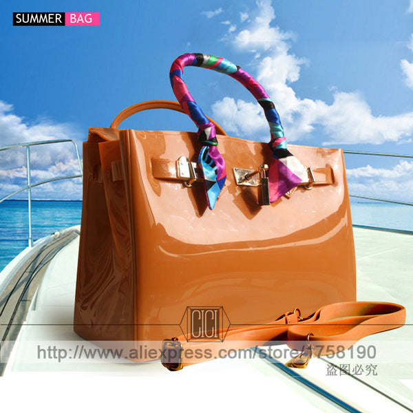 10bcd5e18a91 luxury handbags women bags high quality Jelly bags PVC waterproof beach  tote Casual bag - On ...
