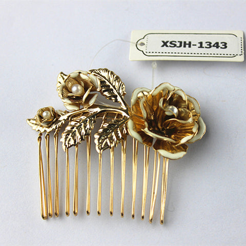 Factory direct sale! Europe and the United States a new design! Romantic! Pearl, flower shaped hair accessories! ! - On Trends Avenue