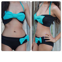 Push Up Bikinis set Women Swimsuit Sexy Bathing Suit Swimwear women Bowtie Bandeau Bikini Set - On Trends Avenue