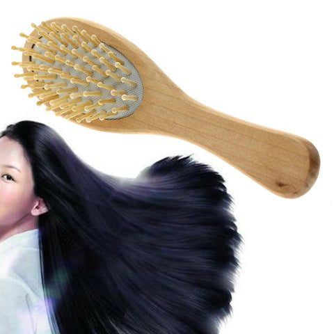 1pc New Practical Smooth Head Massager Wooden Hair Brushes Applied Portable Comb - On Trends Avenue