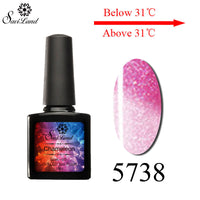 10ml Temperature Thermo Gel UV Gel Soak Off Mood Change Nail Gel Polish Manicure Nail Gel 24 Colors Pick 1 Color - On Trends Avenue