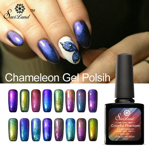 Saviland 1pcs Nail Polish Chameleon Phantom Mood Change UV Gel 10ml 3D Color Changing Glitter Esmalte Primer Varnish - On Trends Avenue