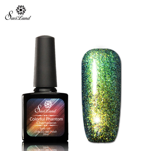 Saviland 1pcs Phantom Chameleon Gel Nail Polish Long-lasting Soak Off UV Gel Mood Change 3D Colorful Gel Varnishes - On Trends Avenue