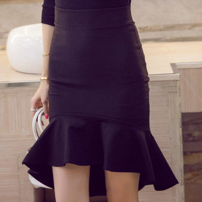 New European Fashion Black Trumpet Skirt Women Vintage Slim Sexy Pencil Skirt Female Skirts S-5XL 2 Colors - On Trends Avenue