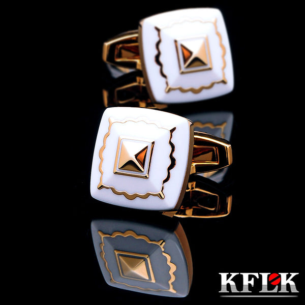 KFLK jewelry Fashion French shirt cufflink for mens Brand Cuff link Button High Quality Gold Luxury Wedding Groom - On Trends Avenue