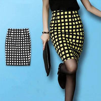 Summer New Woman Fashion Slim Package Hip Split Plaid OL Pencil Skirt - On Trends Avenue