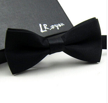 Bow tie Fashion male bow ties color block decoration butterfly block color bow cravat bow knot - On Trends Avenue