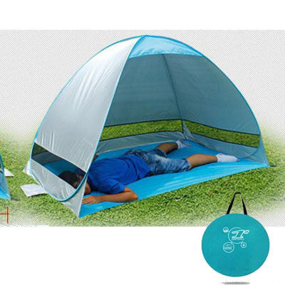 One second quick open outdoor camping fishing beach tent no need installation 1-2 people adult tent - On Trends Avenue