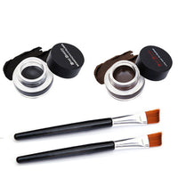 2Pcs Waterproof Eye Liner Eyeliner Shadow Gel Makeup Cosmetic Brush Brown Black G6819 - On Trends Avenue