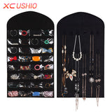 32 Pockets Jewelry Hanging Organizer Earrings Necklace Jewelry Display Holder Dual Sided Jewellery Storage Bag Display Pouch - On Trends Avenue