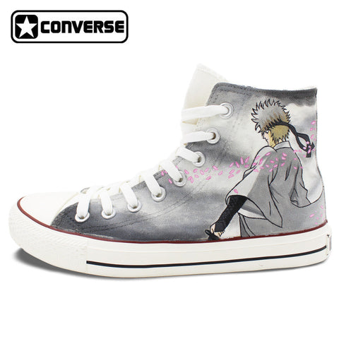 Gintama Anime Converse Chuck Taylor Mens Womens Shoes Hand Painted High Top Sneakers Man Woman Cosplay Best Gifts
