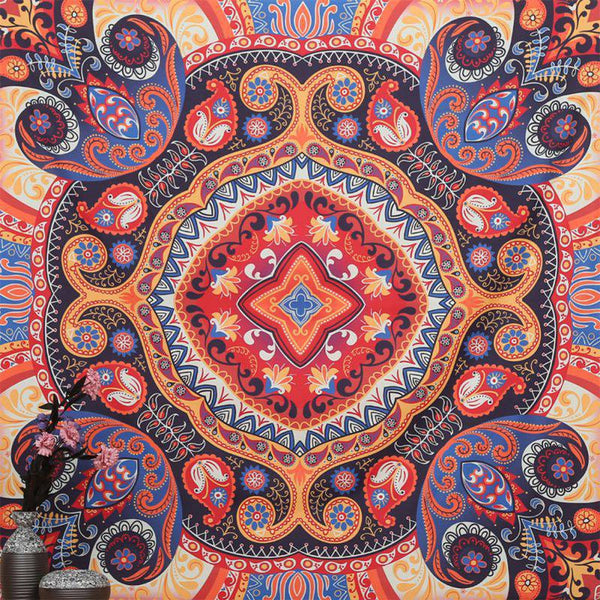 Indian Mandala Tapestry Beach Towel Yoga Mat Blanket Table Cloth Wall Hanging Tapestries Boho Bedspread Mandala Tapestry Beach T - On Trends Avenue