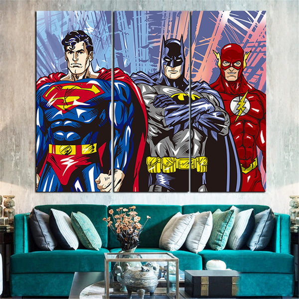 American Hero Oil Painting Decoration Pictures Canvas Art Posters and Prints Canvas Pictures for Living Room 3 Pieces No Frame - On Trends Avenue