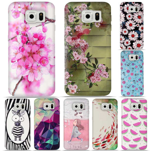 Luxury 3D Relief Priting Case For fundas Samsung S6 G9200 G920 Cases Soft TPU Cover for Samsung S6 Phone Case Silicone Cover Bag - On Trends Avenue