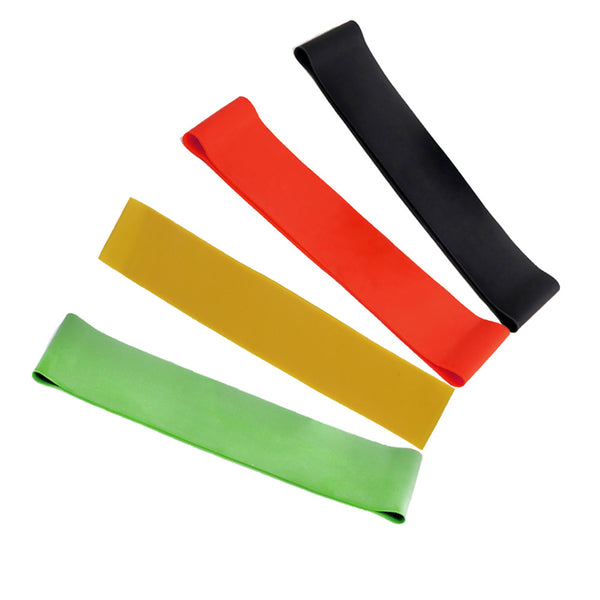 4pcs 4 Levels Rubber Resistance Bands Set Exercise Equipment Body Building Latex Pull Rope Fitness Yoga Strength Band - On Trends Avenue
