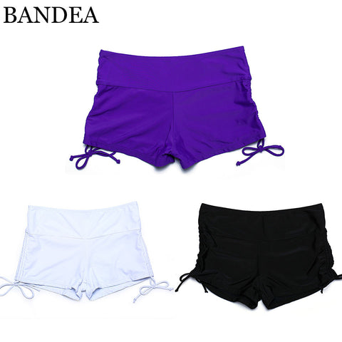 BANDEA New Hot Seven size Women Brazilian high waist Bikini Bottoms Swim trunks Sexy solid Swimming Trunks Swimwear - On Trends Avenue