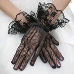HQ 1Pair New Sexy Women Evening Party Prom Costume Lace Gloves Solid Color Fashion Hollow out Ladies Gloves DYY1687 - On Trends Avenue