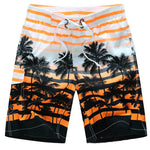Hawaiian Beach Shorts Men Striped Man Board Shorts Mesh Lined Boardshorts Swimwear Trunks Quick Dry Surfboard - On Trends Avenue