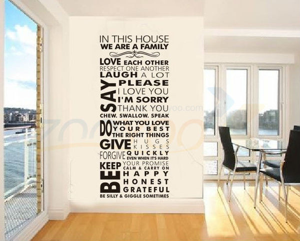 We are family home decor creative quote wall decal ZooYoo8085 decorative adesivo de parede removable vinyl wall sticker - On Trends Avenue