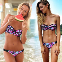 2017 New Women Sexy Bikini Set Swimwear Push Up Bikinis Low Waist Swimsuit Bathing Woman Swimwears Maillot De Bain Biquini BJ088 - On Trends Avenue
