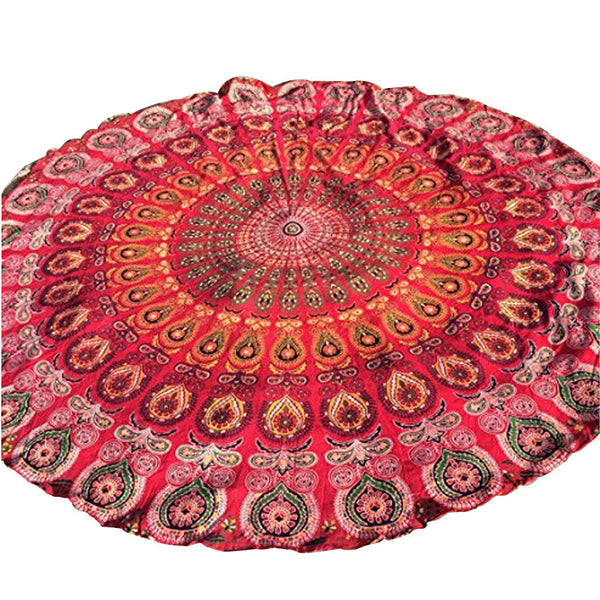 Round Beach Pool Home Shower Towel Blanket Table Cloth Yoga Mat - On Trends Avenue