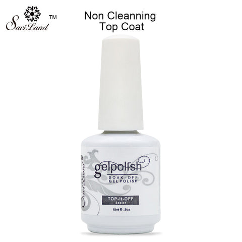 Saviland professional 15ml gelpolish nail base coat top coat soak off gel lacquer varnishes uv gel nail primer in nail art - On Trends Avenue