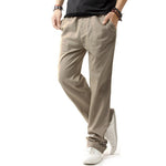 Brand New Men Cotton Linen Casual Pants Men Solid Thin Breathable Joggers Sweatpants Plus Size M-XXXXL Straight Trousers - On Trends Avenue