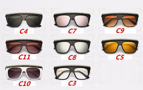 2017 sunglasses women  big frame steam punk woven Retro Sunglasses Exquisite metal hollow Men Sun glasses Unique square Glasses - On Trends Avenue