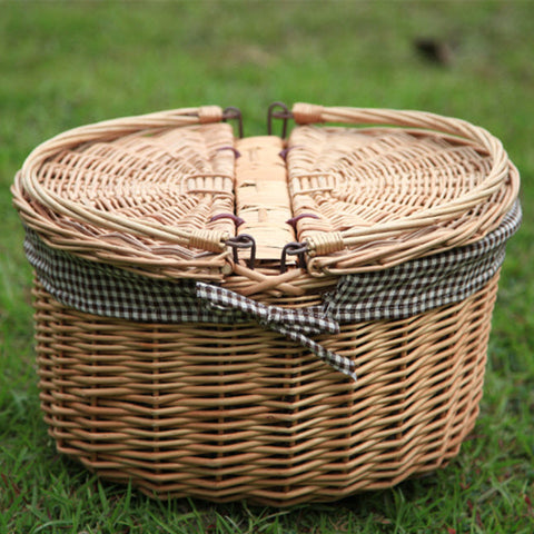 Kingart Rustic  Portable  Willow Organizer for Food/Storage/Sundries Picnic  Basket - On Trends Avenue