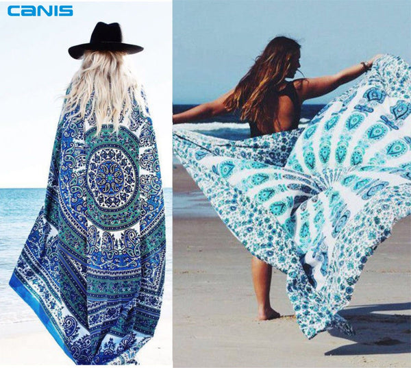 The new Chiffon scarf flowers scarves Quality goods printed chiffon wrap Sarong Beach Swimwear Cover Up Bikini Scarf Shawl - On Trends Avenue