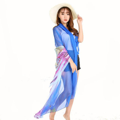 New Hot Sale Women Chiffon Wrap Pareo Dress Sarong Beach Swimwear Bikini Cover Up Brand New High Quality - On Trends Avenue