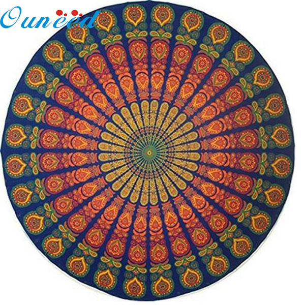 Zero Round Beach Pool Home Shower Towel Blanket Table Cloth Yoga Mat - On Trends Avenue