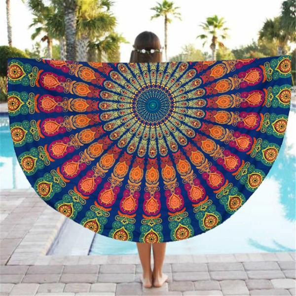 Lovely Pets Round Beach Pool Home Shower Towel Blanket Table Cloth Yoga Mat Jul8 - On Trends Avenue