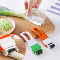 1pc Onion Vegetable Cutter slicer multi chopper Scallion Kitchen knife Shred Tools Slice Cutlery Cooking Tools - On Trends Avenue