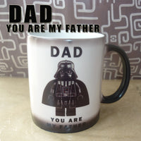 Light Magic Mug Star War DAD,You are my father cute mug color Changing mugs cup coffee Mugs best gift for your kids or youself - On Trends Avenue