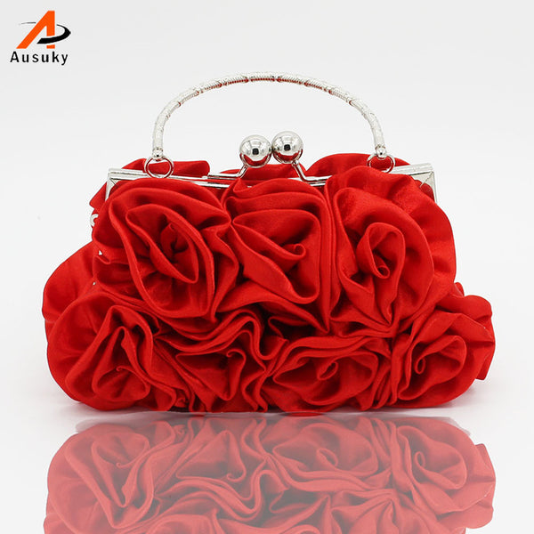 bolsa feminina Handbag Rose Bridal Bags Luxury Evening Bag Clutch Bags Upscale Styling Day Clutches Lady Wedding Purse 45 - On Trends Avenue