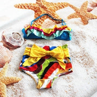 New/Newest cute Halter High Waist  Bowknot bikini swim suits swimming suits - On Trends Avenue