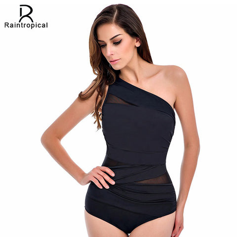 One Piece Swimsuit 2017 Sexy Swimwear Women Summer Beach Wear Mesh Zipper Beach Bathing Suits Swim Bodysuit Black White Red XXL - On Trends Avenue