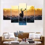 Deer Painting Wall Pictures for Living Room 5 Pieces Animal Wall Painting Art Picture Poster Home Decoration Canvas Art No Frame - On Trends Avenue