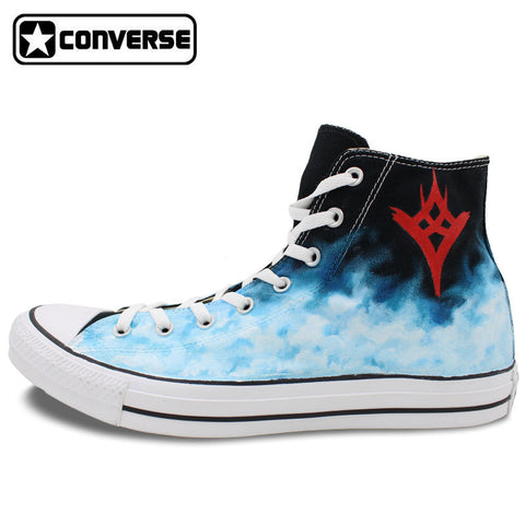 High Top Converse Chuck Taylor Men Women Shoes Destiny The Taken King Design Hand Painted Canvas Shoes Man Woman Sneakers