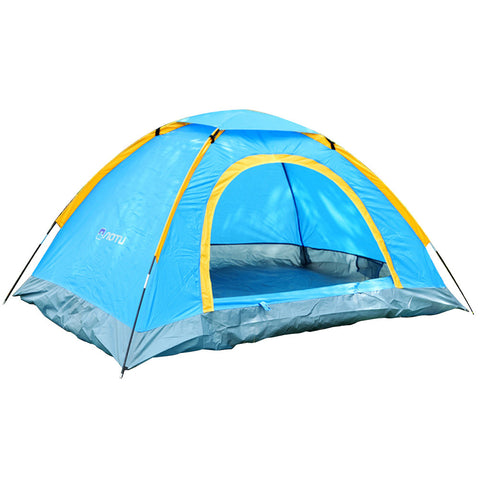 Hot Sale 2 Persons Double-sided Zipper Beach Tent Portable Waterproof UV-resistant Tents for Camping Hiking Traveling Beach BHU2 - On Trends Avenue