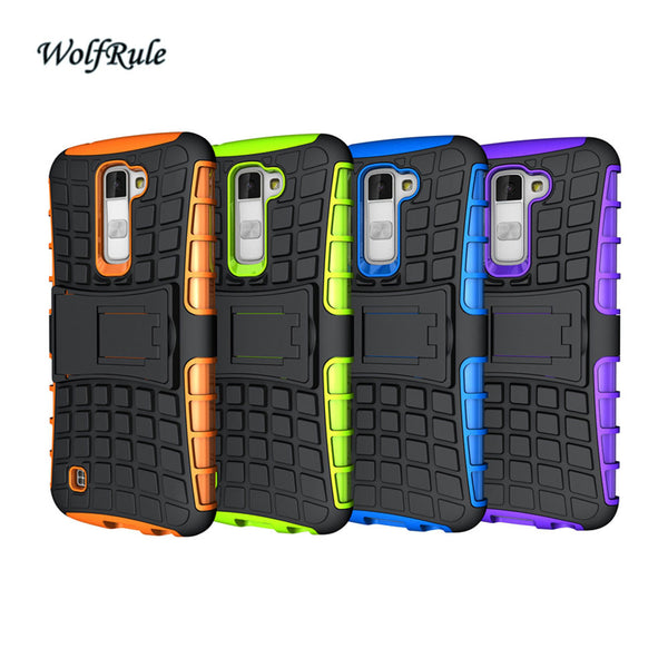 Case For LG K10 Cover Shockproof Silicone & Hard Plastic Case For LG K10 Lte K430DS K410 M2 Cell Phone Holder Stand Cover #< - On Trends Avenue