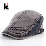 2017 Men's Cotton Berets Caps For Men Newsboy Cap Peaked Hat Flat Cap Boinas Hats For Men Retro Beret Visors Boina 4 Colors - On Trends Avenue