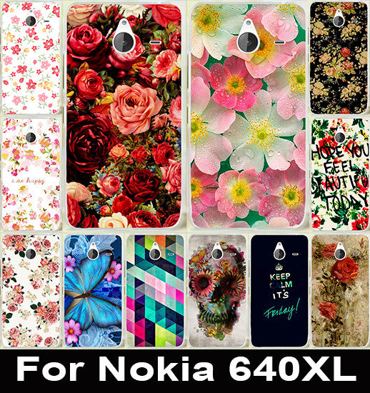 Brilliant Rose Peony Flower Painted Fashion Cute Soft TPU & Hard PC Cover Case For Microsoft Nokia Lumia 640XL 640 XL Case Capa - On Trends Avenue