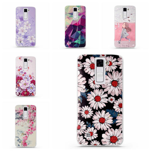 Shell For LG Tribute 5 / LG K7 Back Case Cover Printing Mandala Flower Datura Floral Cell Phone Cases for LG K7 K330 Cover Funda - On Trends Avenue