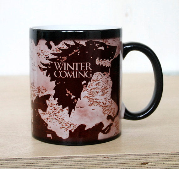 Drop shipping New Arrival Game Of Thrones mugs Winter is coming mug Magic color changing mugs cup Tea coffee mug cup - On Trends Avenue